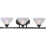 "Contour Collection 3-Light 28"" Oil Rubbed Bronze Vanity with Frosted Glass 21273FTOI"