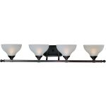 "Contour Collection 4-Light 38"" Oil Rubbed Bronze Vanity with Frosted Glass 21274FTOI"