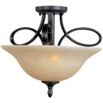 "Infinity Collection 3-Light 18"" Oil Rubbed Bronze Semi-Flush Mount with Wilshire Glass 21302WSOI"