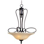 "Infinity Collection 3-Light 36"" Oil Rubbed Bronze Pendant with Wilshire Glass 21303WSOI"