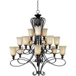 "Infinity Collection 15-Light 50"" Oil Rubbed Bronze Chandelier with Wilshire Glass 21307WSOI"