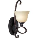"Infinity Collection 1-Light 6"" Oil Rubbed Bronze Wall Sconce with Wilshire Glass 21311WSOI"
