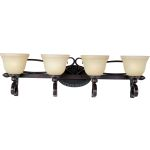 "Infinity Collection 4-Light 33"" Oil Rubbed Bronze Vanity with Wilshire Glass 21314WSOI"