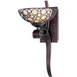"Meridian Collection 1-Light 17"" Umber Bronze Wall Sconce with Dusty White Glass 21348DWUB"