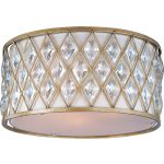 "Diamond Collection 3-Light 18"" Golden Silver Flush Mount 21452OFGS"