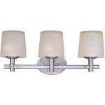 "Finesse Collection 3-Light 22"" Satin Nickel Vanity with Frosted Glass 21513FTSN"