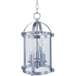 "Tara Collection 3-Light 16"" Satin Nickel Foyer Pendant with Clear Glass 21552CLSN"