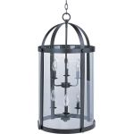 "Tara Collection 6-Light 29"" Bronze Foyer Pendant with Clear Glass 21554CLBZ"