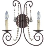 "Adriana Collection 2-Light 14"" Urban Rustic Wall Sconce 22202UR"