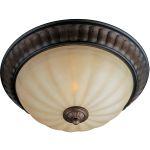 "Fremont Collection 2-Light 15"" Platinum Dusk Flush Mount with Wilshire Glass 22240WSPD"