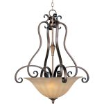"Fremont Collection 3-Light 31"" Platinum Dusk Pendant with Wilshire Glass 22243WSPD"
