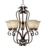 "Fremont Collection 5-Light 27"" Platinum Dusk Chandelier with Wilshire Glass 22245WSPD"