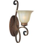 "Fremont Collection 1-Light 7"" Platinum Dusk Wall Sconce with Wilshire Glass 22251WSPD"
