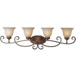 "Fremont Collection 4-Light 39"" Platinum Dusk Vanity with Wilshire Glass 22254WSPD"