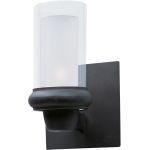 "Bayview Collection 1-Light 5"" Bronze Wall Sconce with Clear/Frosted Glass 22351CLFTBZ"