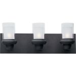 "Bayview Collection 3-Light 21"" Bronze Vanity with Clear/Frosted Glass 22353CLFTBZ"