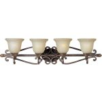 "Beaumont Collection 4-Light 37"" Golden Fawn Vanity with Cafe Glass 24114CFGF"
