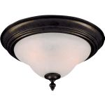 "Pacific Collection 2-Light 13"" Kentucky Bronze Flush Mount with Marble Glass 2650MRKB"