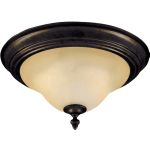 "Pacific Collection 2-Light 13"" Kentucky Bronze Flush Mount with Wilshire Glass 2650WSKB"