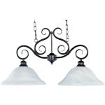 "Pacific Collection 2-Light 16"" Kentucky Bronze Pendant with Marble Glass 2651MRKB"