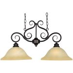 "Pacific Collection 2-Light 16"" Kentucky Bronze Pendant with Wilshire Glass 2651WSKB"