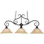 "Pacific Collection 3-Light 20"" Kentucky Bronze Pendant with Wilshire Glass 2653WSKB"
