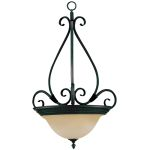 "Pacific Collection 3-Light 28"" Kentucky Bronze Pendant with Wilshire Glass 2654WSKB"
