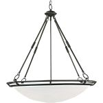 "Stratus Collection 6-Light 30"" Bronze Pendant with Marble Glass 2674MRBZ"
