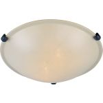 "Malibu Collection 2-Light 12"" Oil Rubbed Bronze Flush Mount with Wilshire Glass 2680WSOI"