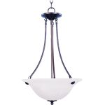 "Malibu Collection 3-Light 24"" Oil Rubbed Bronze Pendant with Marble Glass 2682MROI"