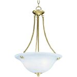 "Malibu Collection 3-Light 24"" Polished Brass Pendant with Marble Glass 2682MRPB"
