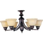"Malibu Collection 6-Light 14"" Oil Rubbed Bronze Chandelier with Wilshire Glass 2684WSOI"
