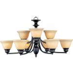 "Malibu Collection 9-Light 16"" Oil Rubbed Bronze Chandelier with Wilshire Glass 2685WSOI"