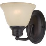 "Malibu Collection 1-Light 6"" Oil Rubbed Bronze Wall Sconce with Wilshire Glass 2686WSOI"