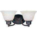 "Malibu Collection 2-Light 13"" Oil Rubbed Bronze Vanity with Marble Glass 2687MROI"