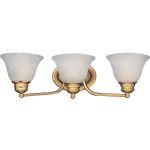 "Malibu Collection 3-Light 19"" Polished Brass Vanity with Marble Glass 2688MRPB"