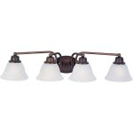 "Malibu Collection 4-Light 29"" Oil Rubbed Bronze Vanity with Marble Glass 2689MROI"