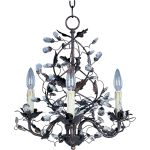 "Elegante Collection 3-Light 18"" Oil Rubbed Bronze Mini Chandelier 2850OI"