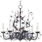 "Elegante Collection 6-Light 28"" Oil Rubbed Bronze Chandelier 2851OI"