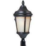 "Odessa Collection 1-Light 20"" Espresso Outdoor Pier/Post Mount with Latte Glass 3010LTES"