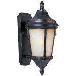"Odessa Collection 1-Light 7"" Espresso Outdoor Wall Light with Latte Glass 3013LTES"