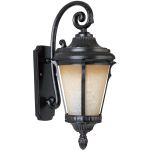 "Odessa Collection 1-Light 11"" Espresso Outdoor Wall Light with Latte Glass 3015LTES"