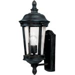 "Dover DC Collection 1-Light 8"" Bronze Outdoor Wall Light with Seedy Glass 3020CDBZ"