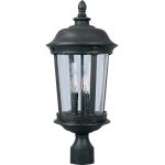 "Dover DC Collection 3-Light 25"" Bronze Outdoor Pier/Post Mount with Seedy Glass 3022CDBZ"