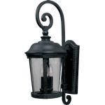 "Dover DC Collection 3-Light 10"" Bronze Outdoor Wall Light with Seedy Glass 3024CDBZ"
