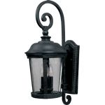 "Dover DC Collection 3-Light 12"" Bronze Outdoor Wall Light with Seedy Glass 3025CDBZ"