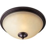 "Richmond Collection 2-Light 14"" Colonial Umber Flush Mount with Wilshire Glass 31000WSCU"