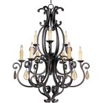 "Richmond Collection 9-Light 44"" Colonial Umber Chandelier 31006CU/CRY094"