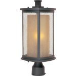 "Bungalow Collection 1-Light 18"" Bronze Outdoor Pier/Post Mount with Seedy/Wilshire Glass 3150CDWSBZ"