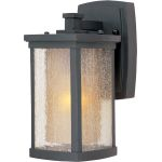 "Bungalow Collection 1-Light 5"" Bronze Outdoor Wall Light with Seedy/Wilshire Glass 3152CDWSBZ"